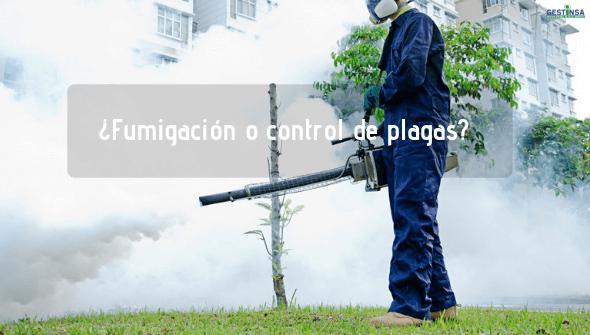 Diferencias fumigación y el control de plagas